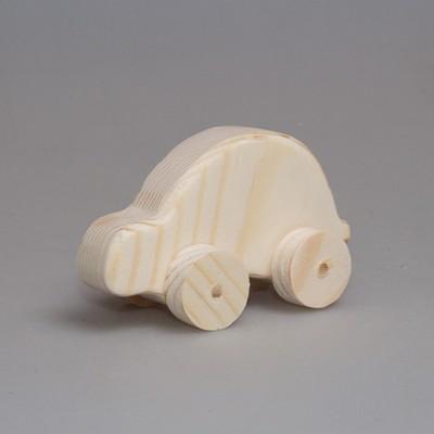 """Игрушка из дерева автомобиль """"Жук"""" (на колесиках)"""