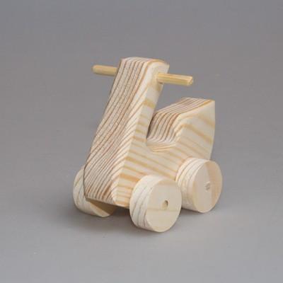 """Деревянная игрушка """"Мотороллер"""" (на колесиках)"""
