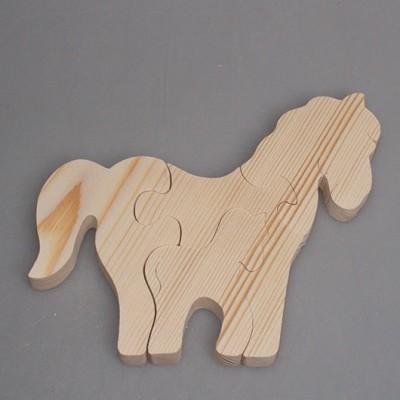 """Деревянный пазл """"Лошадь с детенышем"""""""