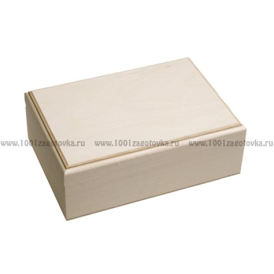 Деревянная заготовка шкатулка прямоугольная прямоугольная (с фрезой) 20 х 14 х 7 см