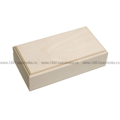 Деревянная заготовка шкатулка прямоугольная прямоугольная (с фрезой) 19 х 11 х 5 см