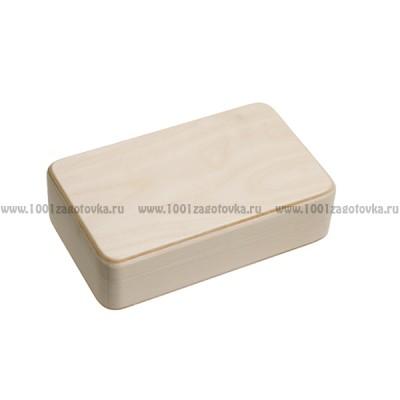 Деревянная заготовка шкатулка прямоугольная (с округленными углами) 19 х 10 х 4,5 см