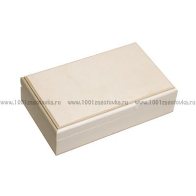 Деревянная заготовка шкатулка прямоугольная прямоугольная (с фрезой) 19 х 10 х 4,5 см