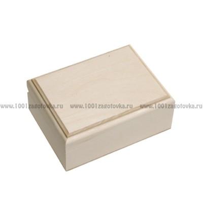 Деревянная заготовка шкатулка прямоугольная прямоугольная (с фрезой) 12 х 9 х 5 см