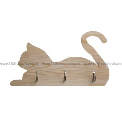"Ключница из дерева ""Кошка"""