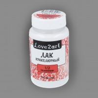 """Лак кракелюрный компонент белый, """"Love2art"""", 110 мл"""