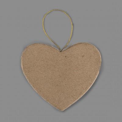 """Заготовка для декорирования из папье-маше """"сердце"""" N7 (Love2art), 3 шт."""