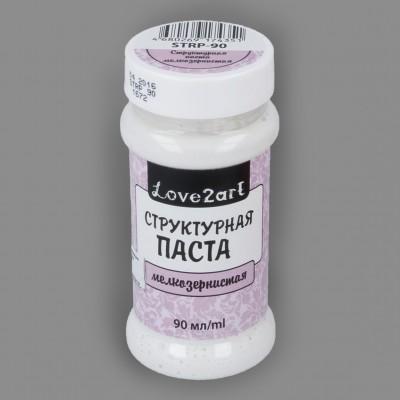 """Структурная паста мелкозернистая для декупажа цвет белый, """"Love2art"""", 90 мл"""