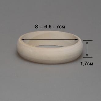 Деревянный браслет взрослый 1,7см (округлый)