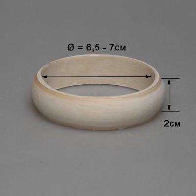 Деревянный браслет взрослый 2см (округлый)