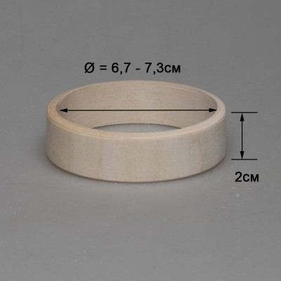 Деревянный браслет взрослый 2см (прямой)