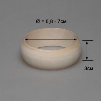 Деревянный браслет взрослый 3см (округлый)