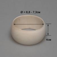 Деревянный браслет взрослый 4см (округлый)