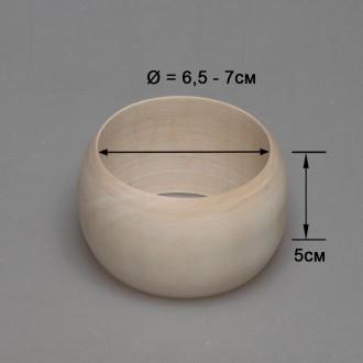Деревянный браслет взрослый 5см (округлый)
