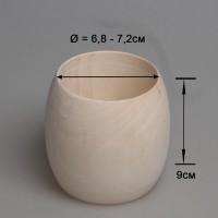 Деревянный браслет взрослый 9см (округлый)