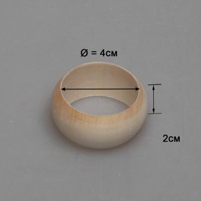 Деревянное кольцо для салфеток (округлое) 1-9.287
