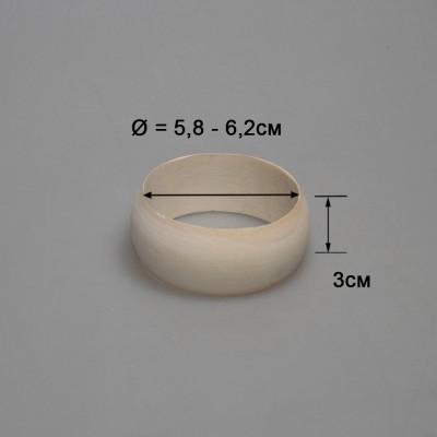 Деревянный браслет детский 3см (округлый)