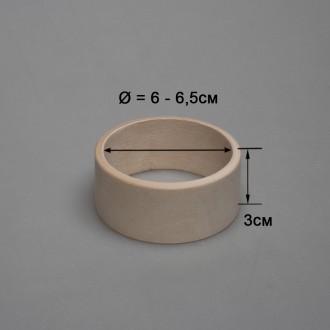 Деревянный браслет детский 3см (прямой)