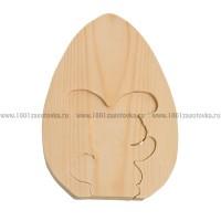 """Фигурка из дерева """"Пасхальный кролик"""""""