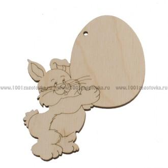 """Фигурка подвес с контуром """"Пасхальный кролик с яйцом"""""""