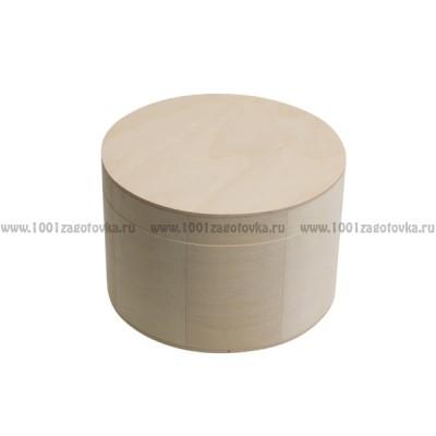 Деревянная заготовка шкатулка круглая (высокая) 15 см