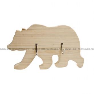 "Ключница из дерева ""Медведь"""