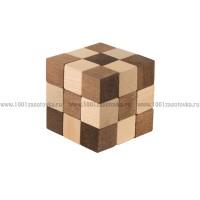 "Головоломка ""Куб змейка"" 3х3 из дерева"