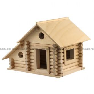 Конструктор деревянный деревенский дом №1 (6 моделей)