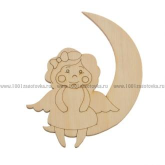 Фигурка подвес с контуром (Ангел на луне)