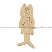 Фигурка подвес с контуром из фанеры (Кролик)