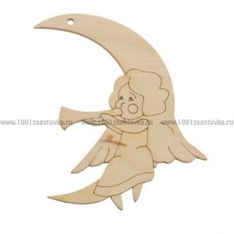 Фигурка подвес с контуром (Ангел на луне 2)