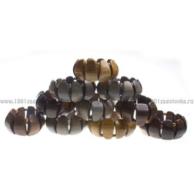 Браслет растяжной деревянный в ассортименте (цена за 1 шт.) 1-47.181