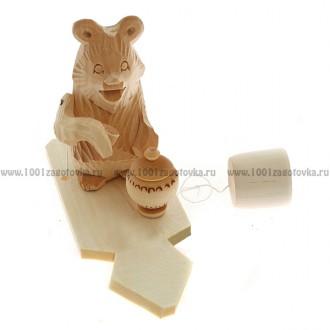 """Богородская игрушка  """"Мишка пьет чай"""""""