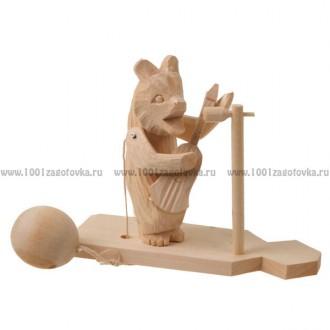 """Богородская игрушка """"Мишка играет на гитаре"""""""