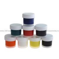 Набор красок по ткани акриловых 8 цветов