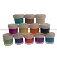Набор красок акриловых перламутровых 12 цветов