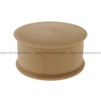 Деревянная заготовка шкатулка круглая 12 см