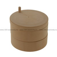 Деревянная заготовка шкатулка круглая раздвижная (двойная) 11 см