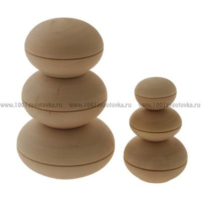 Деревянная заготовка шкатулочка круглая (5,5 - 15 см)