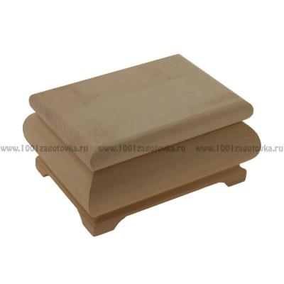 Деревянная заготовка фигурная шкатулка 16,5 х 12,5 х 7,5 см
