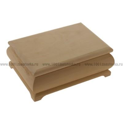 Деревянная заготовка фигурная шкатулка 12 х 9 х 7 см