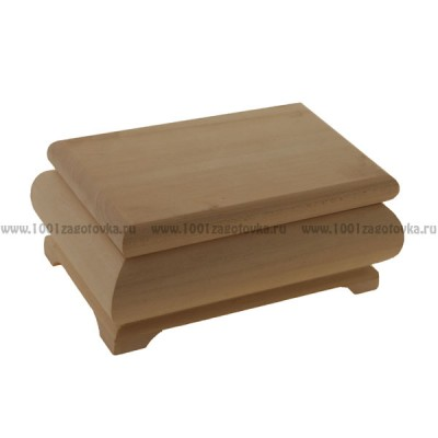Деревянная заготовка фигурная шкатулка 18,5 х 12,5 х 9 см
