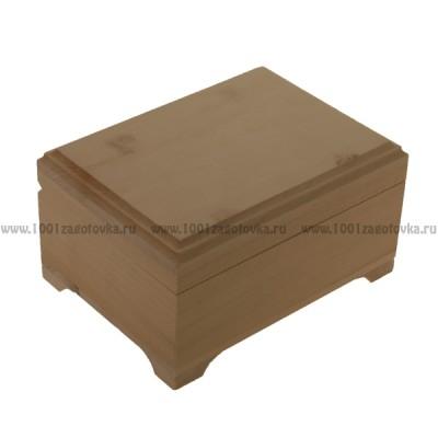Деревянная заготовка шкатулка плоская (фреза) 16 х 12 см