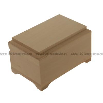Деревянная заготовка шкатулка плоская (фреза) 8 х 12 х 6,7 см