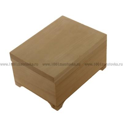 Деревянная заготовка пенал плоский 16 х 12 см х 8,5 см