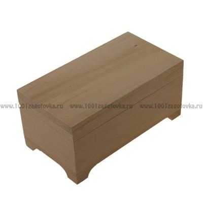 Деревянная заготовка пенал плоский (купюрница) 10 х 18 см х 7,8 см