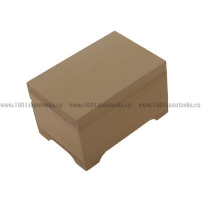 Деревянная заготовка шкатулка плоская 12 х 8 см