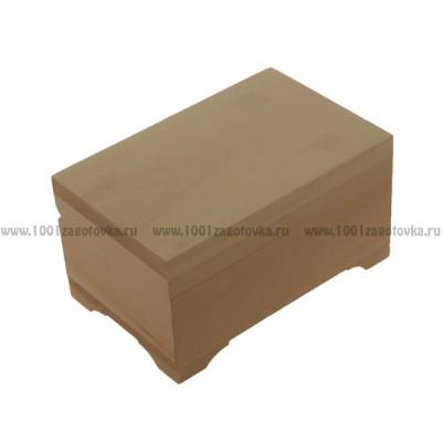 Деревянная заготовка шкатулка плоская 7 х 10 х 6,5 см