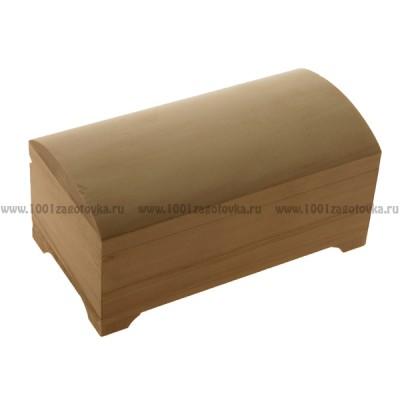 Деревянная заготовка шкатулка сундучок 16 х 10 см