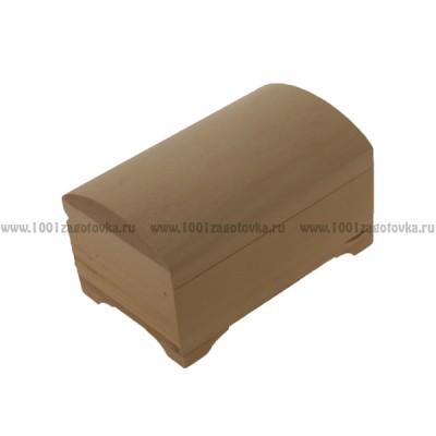 Деревянная заготовка шкатулка сундучок 9 х 14 х 7 см